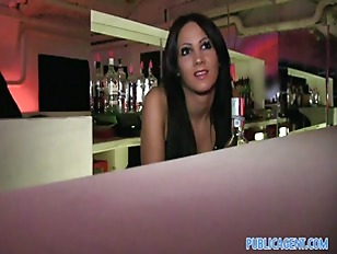 Picture Beautiful Barmaid Gets Fucked Behind The Bar