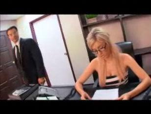 Busty Blonde Secretary Victoria...