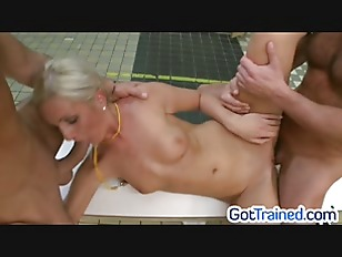 Picture Blondie Gets A Rough Threesome