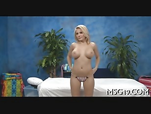 Picture Oiled Blondie Gets Pussy Rammed