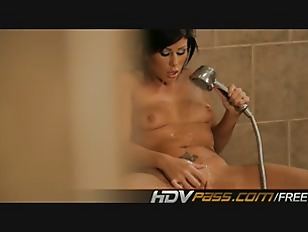 Picture Sexy Brunette Masturbates In The Shower Whil...