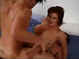 Picture Busty Redhead Slut In Threesome