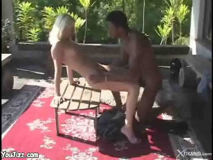 Picture Wild Blonde Slut Gets Her Asshole Fucked On...