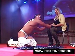 Sensational Public Blow Job of male stripper