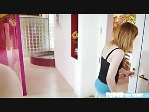Adorable and blonde Ariel Skye gets fucked by her bros friend