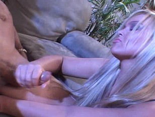 Picture Busty Blonde Gives Him A Tug