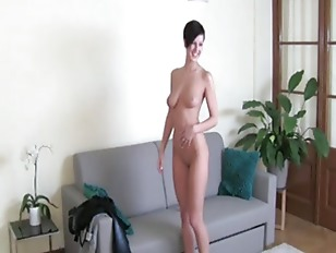 Picture Cute Brunette Girl Fucking On The Chair