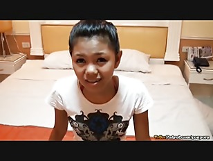 Lean tight-bodied Filipina teen with cute braces fucked hard on camera