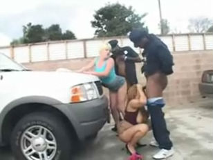 black police fuck - Milf and Daughter with Black Cops