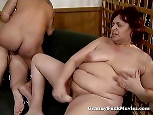 Picture Big Fat Horny Granny Pounding Snatch
