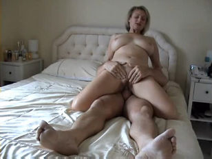 Grandmother riding cock