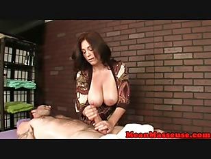 Milf orgasm clients masseuse Bigboobs ruining