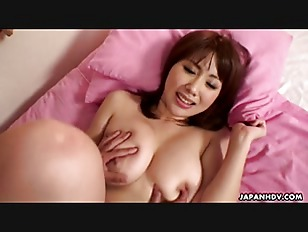 Wonderful big boobs Asian babe getting hammered missionary style