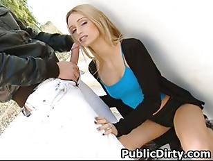 Picture Very Hot Blonde Sucking Dick And Doggystyled...