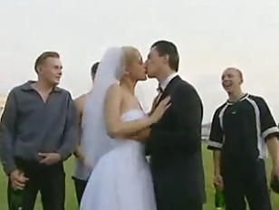Bride Fucked Outdoors By More Than One Guy
