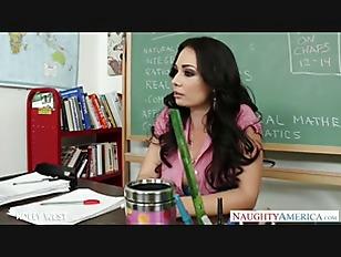 Brunette Teacher Holly West...