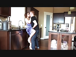 Brunette wife cheating at...