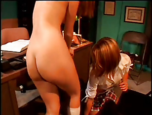 Picture Two Young Lesbians Alone In Office