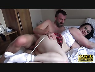 Spanked big ass bound sub