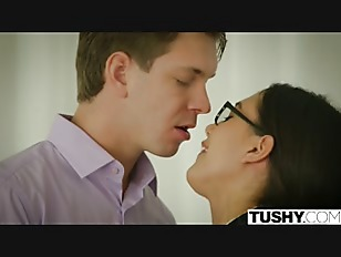 Picture TUSHY Anal Lessons For Sexy Nerd Maya Grand
