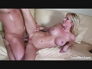 Sexy Blonde MILF Sits...