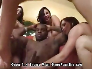 Picture Huge Black Cock Handles Five Hotties