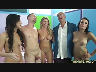 Pornstar Group Sex Show...