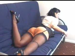 Kirsty Blue Black Stockings...