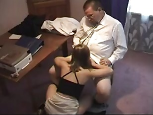 Mature guy screwing student at principals office