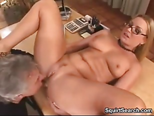 Sexy Blonde Gets Licked...