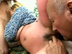 Picture Granny Threesome Outdoors