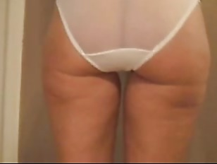 Picture Mature Ass In White Sheer Panties