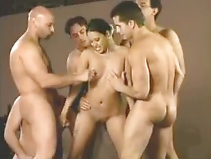 Multiple guys cum in one pussy