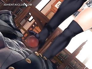 Picture Anime Schoolgirl Feet Fucks Monster Jizzing...