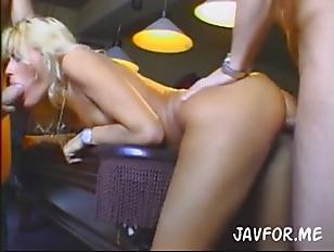 Blonde Whore Gangbang Play...