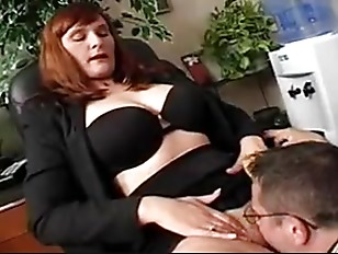 Picture Boss In Pantyhose Gets What She Wants