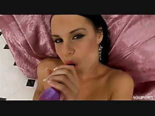 Sexy Brunette Strips And...