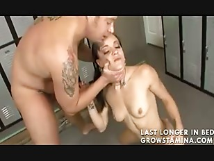Young brunette fucked in...
