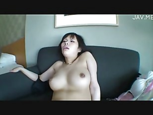 brunette big boobs girl fuck on couch