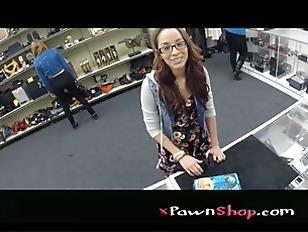 College Student Banged in my pawn shop