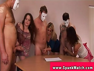 Picture CFNM Office Party For Tugging Sluts Eager To...