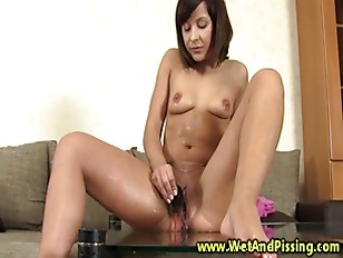 Picture Kinky Chick Pisses A Glass Full And Drinks I...