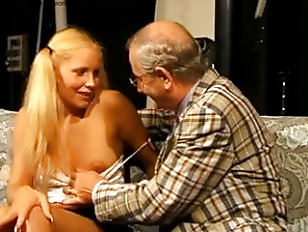 Picture Grandpa Gets Blonde With Pigtails