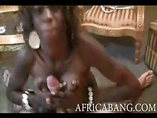 Kinky African amateur with nice big tits stuffed and facialized