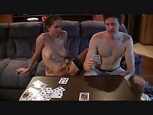 Couple Playing Strip Cards...