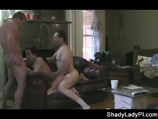 Hubby catches Cheating Wife and Joins In
