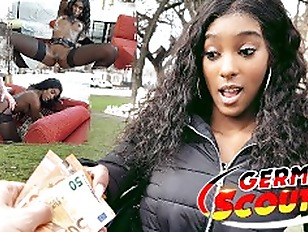 GERMAN SCOUT EBONY FITNESS TEEN RAE EYE ROLLING ORGASM FUCK AT REAL STREET CASTING