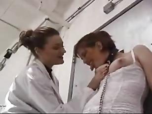 Lesbian mature spanking video