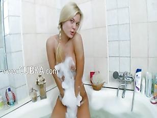 Picture Pigtailed Fairhair Bathroom Diva Teasing
