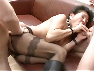 German Mature Inspects Two...